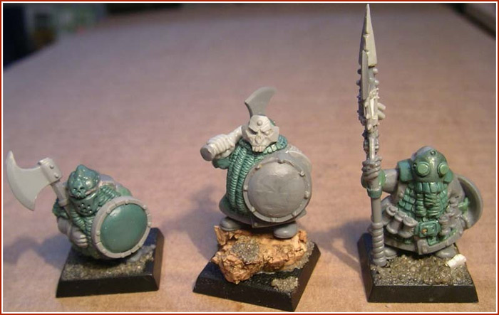 Chaos Dwarf Warrior Greens